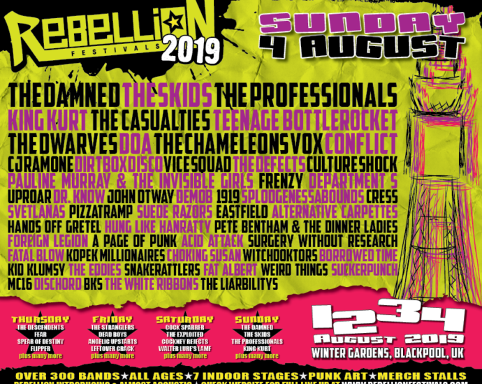 Rebellion 2019 Line Up