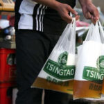 China Beer in Plastic Bags